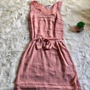 Max Studio Blush Pink Loose Fit Mid Length Dress
